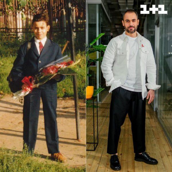 Володимир Рабчун в шкільні роки і зараз