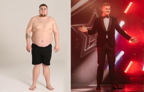 Богдан Буряк до и после похудения