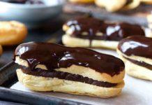Шоколадные эклеры в домашних условиях