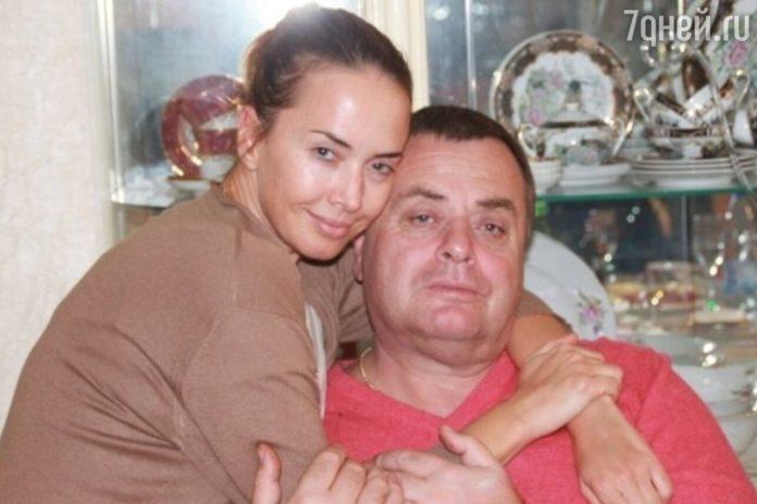 Жанна Фріске з батьком