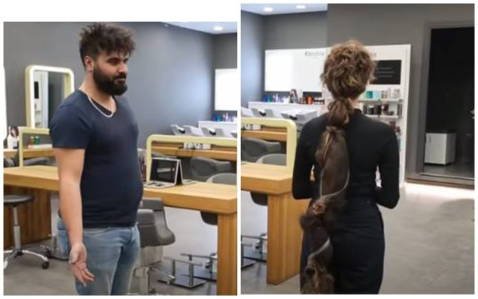 Стефані прийшла стригти волосся