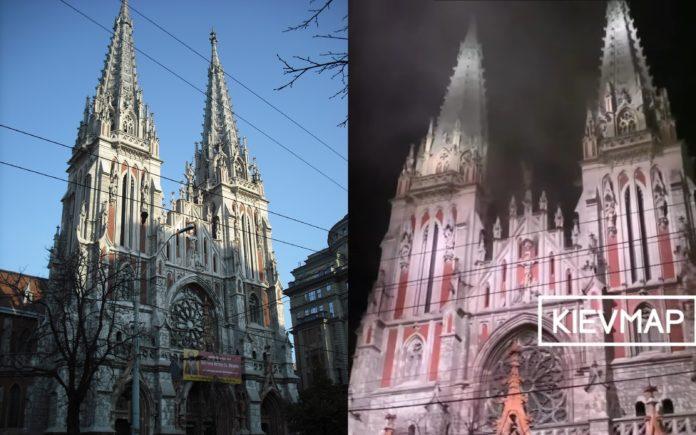 В Киеве горел костел Святого Николая - все подробности события по состоянию на 23:00 третьего сентября