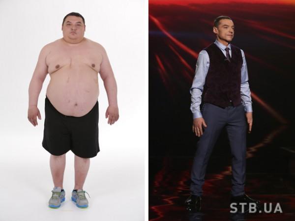 Александр Репьянчук до и после похудения