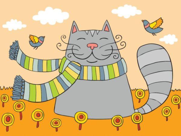 Тест на внимательность: найдите 3 отличия на картинке с котиком