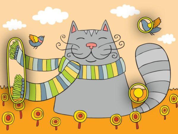Тест на внимательность: найдите 3 отличия на картинке с котиком - ответ